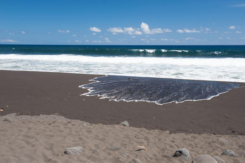 Waipio's longest black sand beach in Hawaii 650' below the property