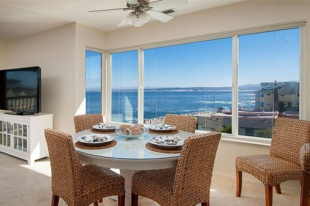 Dining Area with amazing Ocean and Coastal Views
