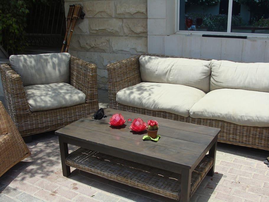Cosy outdoor spaces.