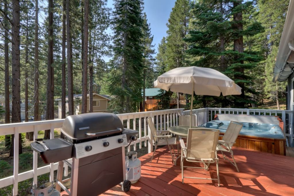 Great deck for BBQs and soaking up the Tahoe sunshine