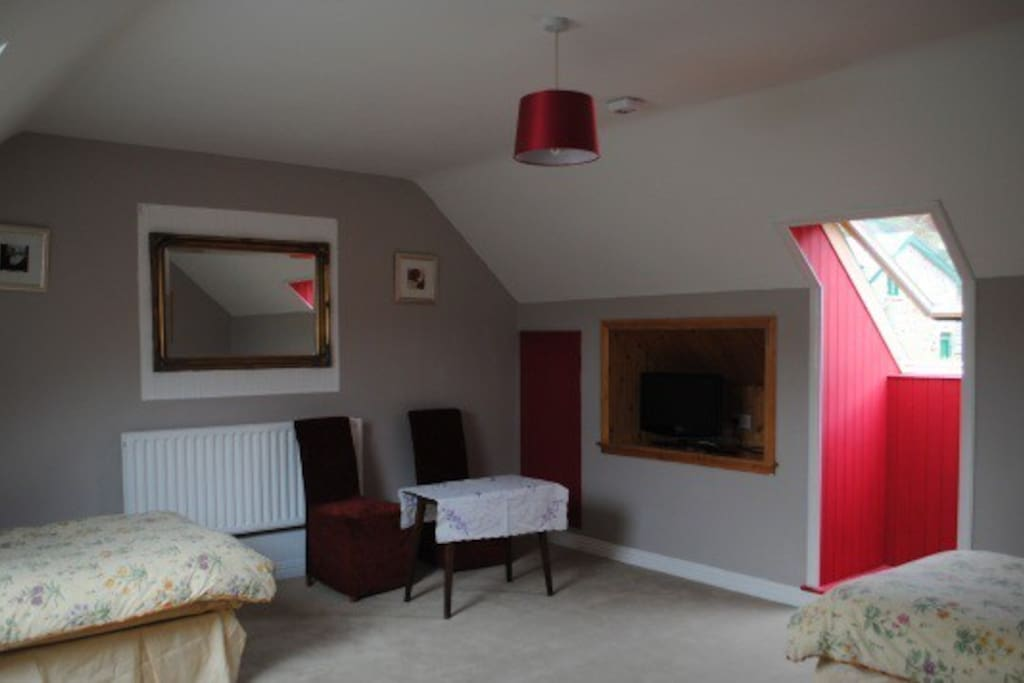 This is our family room which includes double and 2 single beds