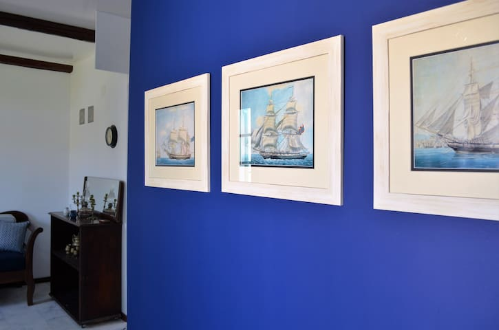 Spetses town apartment with terrace