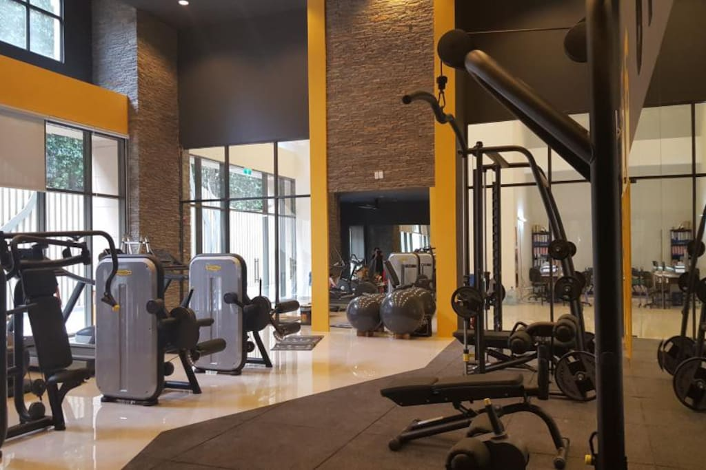 Fitness center is on level 1 and also free for guests