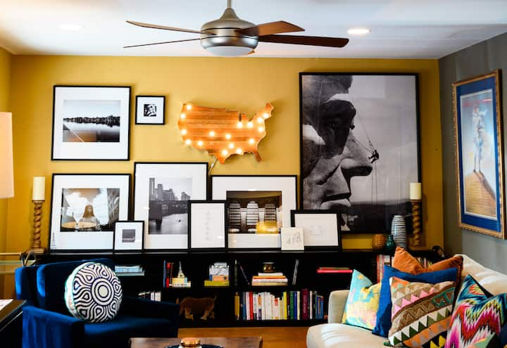 Cozy, Comfortable, Art Filled South Austin Home