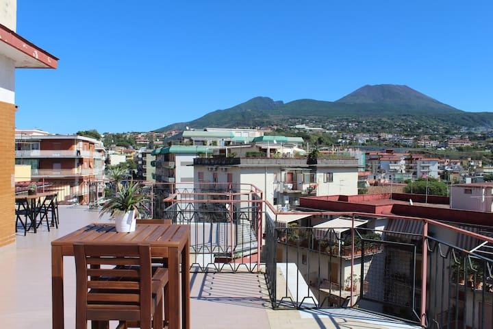 Splendid loft on the slopes of Vesuvius