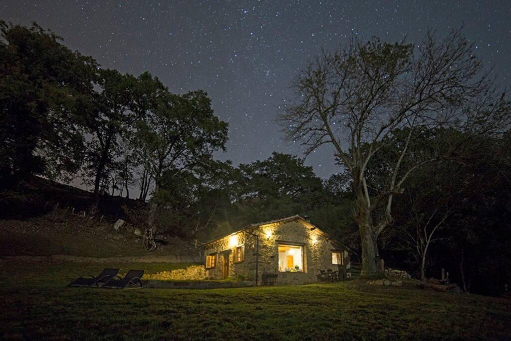 full of stars sky at night