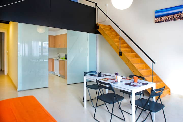 Cool loft duplex-room 4.5 near beach&Bcn