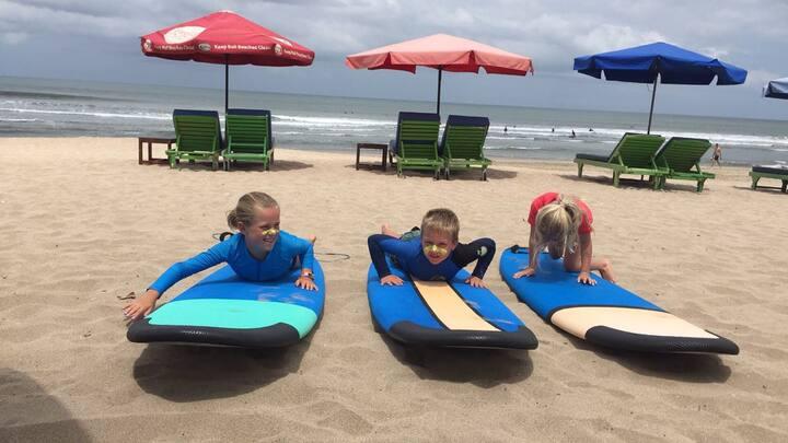The boys Love the surf