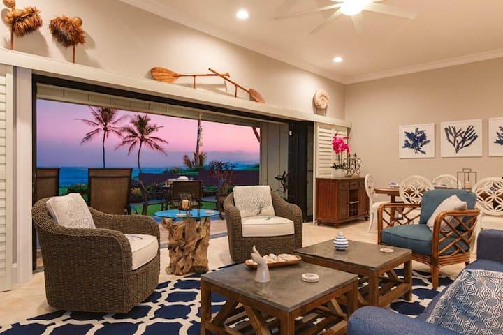 Hale Awapuhi Villa 1B Oceanfront 2 Bedroom - カパア - 別荘