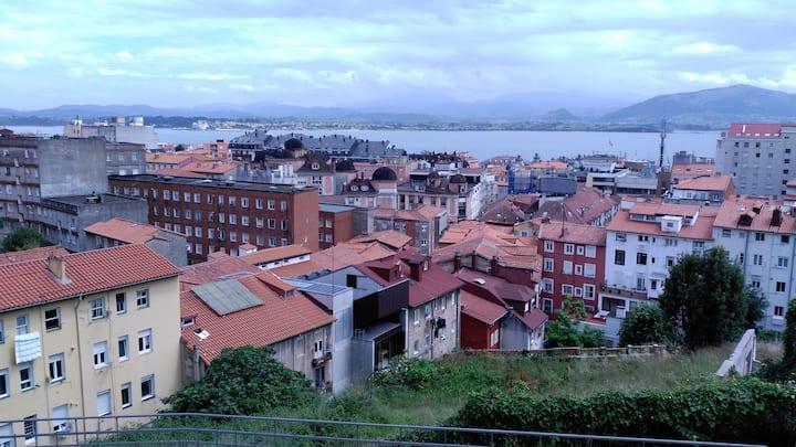 luminoso apartamento  con vistas a la bahía