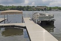 Boat dock and rentable pontoon boat