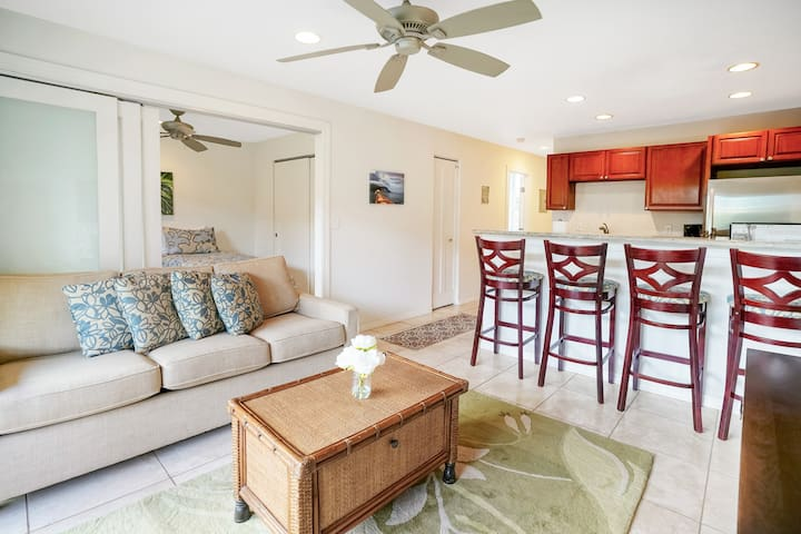 2 BD Serene Kapaa Stay - Right by the Ocean!