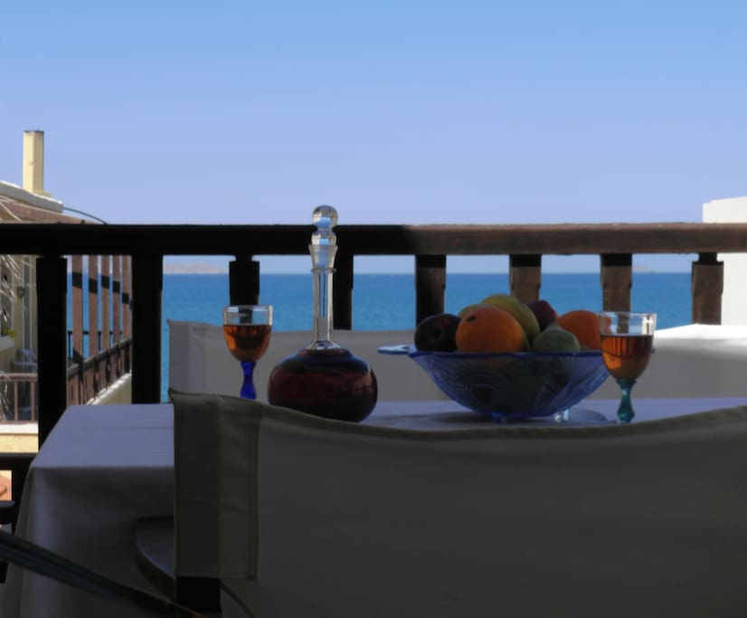 Sea view veranda.