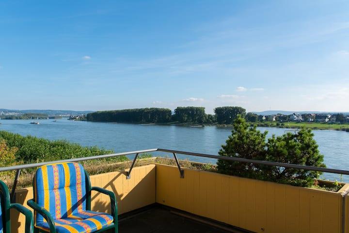 Ferienwohnung direkt am Rhein