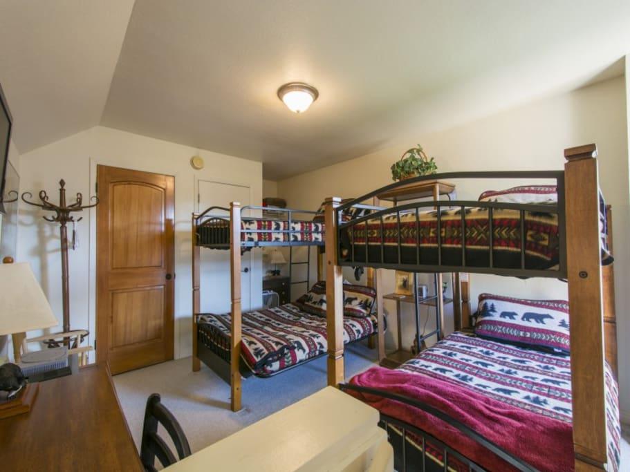 The Bear Room, 3rd story Bedroom sleeps 5.
