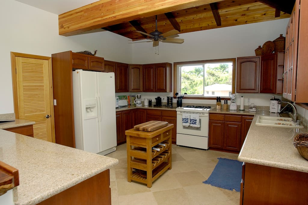 Large kitchen with pantry and outdoor grill