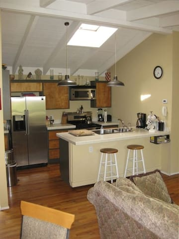 Kitchen area view from dining table area
