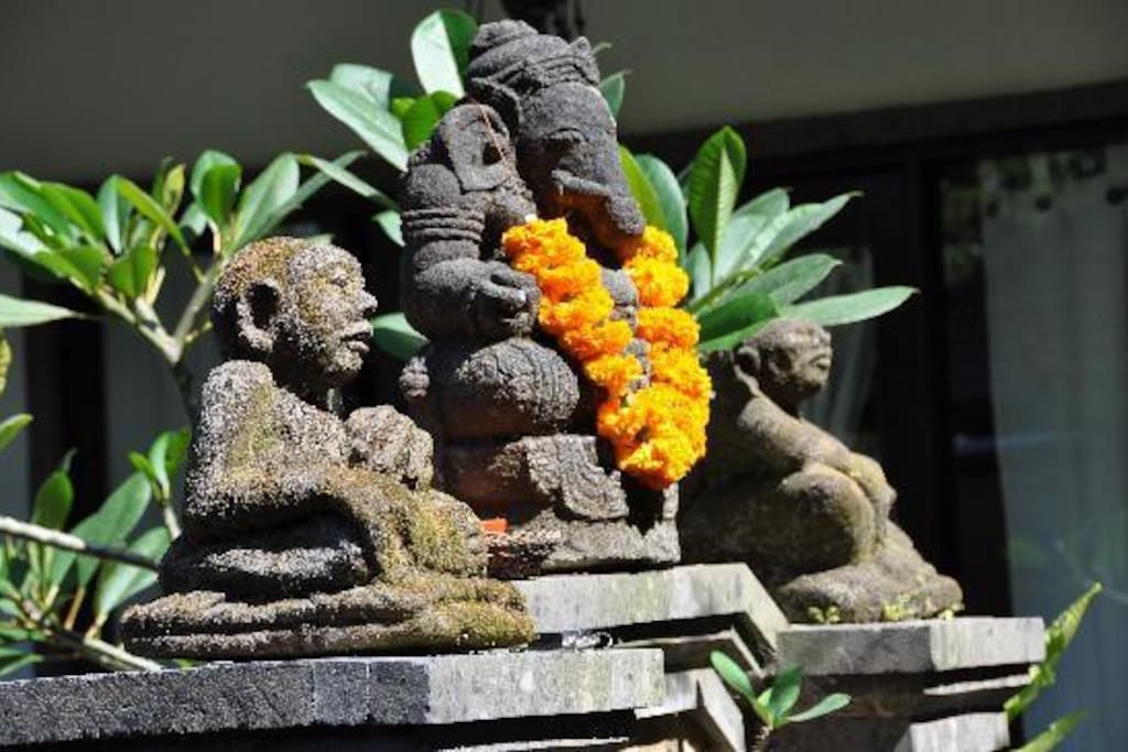 Ganesha is at the Front Gates to Welcome you as you come into Mulawarman