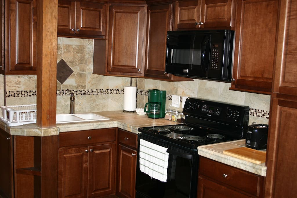 Like new cabinets, countertops, sink