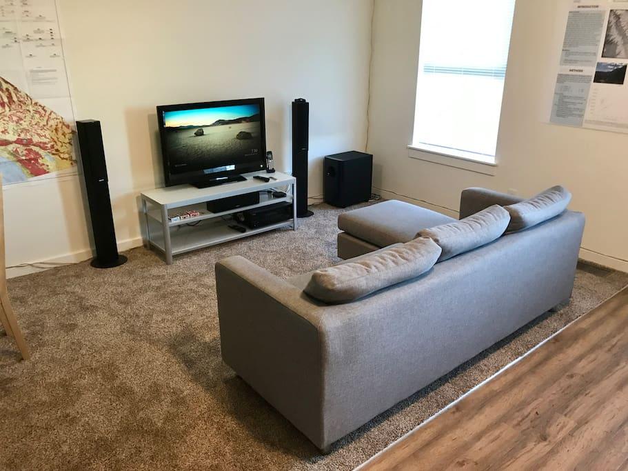 Living Area - Sofa & TV