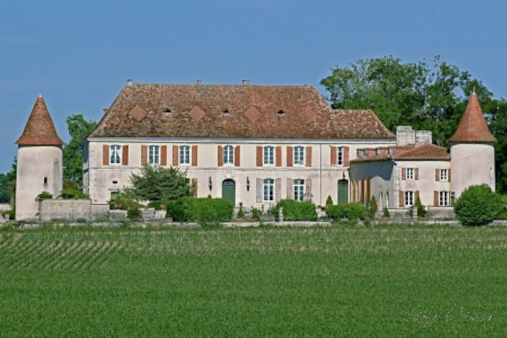 View of the rear of the Chateau, from across the neighbouring fields.