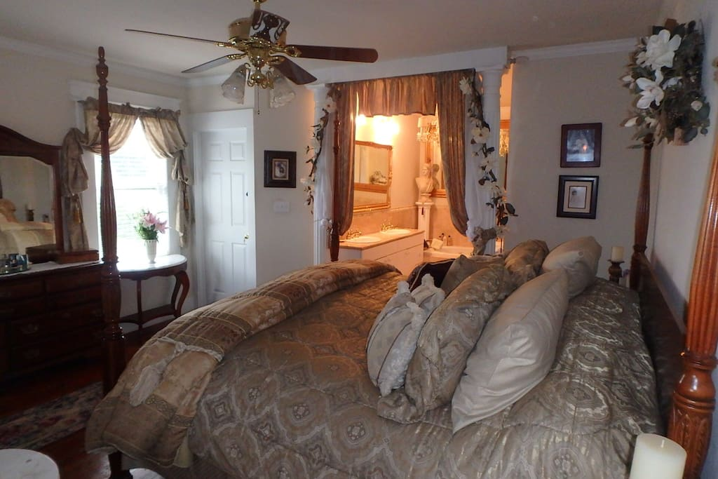 Master suite has private deck with bay views and harbor lights.