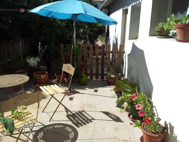 La ville côté jardin avec terrasse  - Perpignan - Appartement