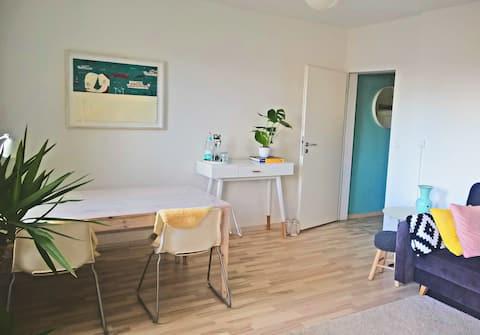 Freundlich eingerichtetes Apartment