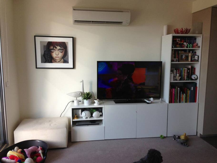 Light living room with TV