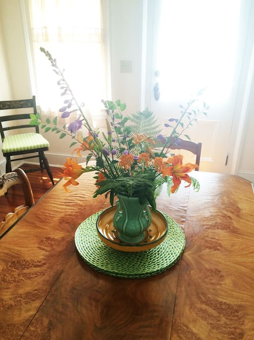 Summer flowers in the dining room