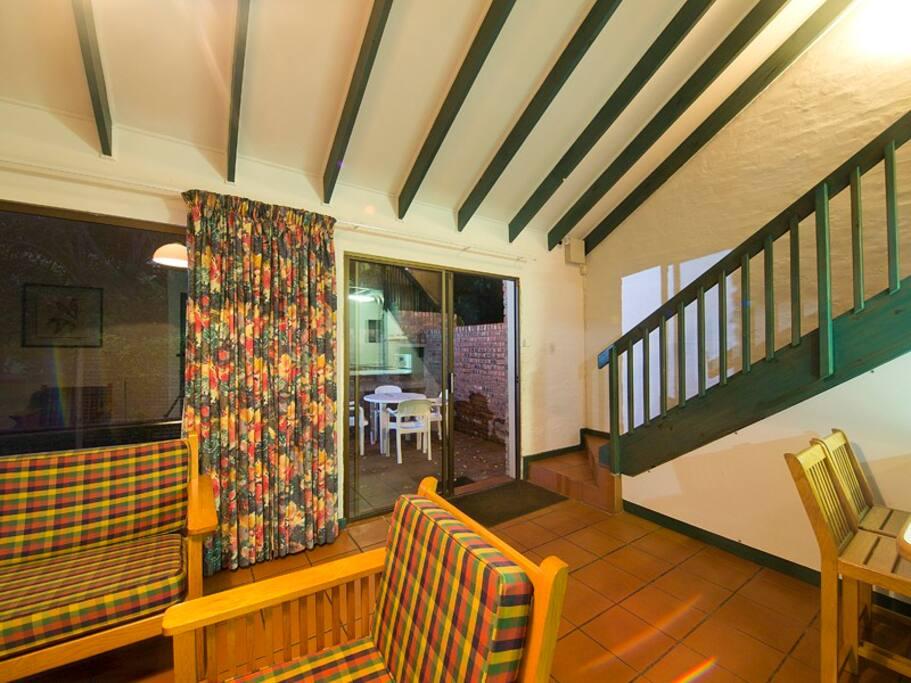 Garden Lodge outside verandah