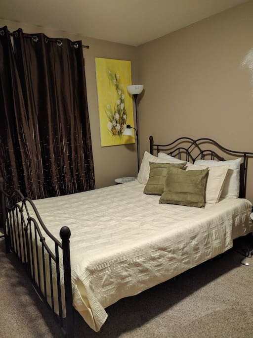 Room A - Your private room with small full bath.  The bed is a queen memory foam.
