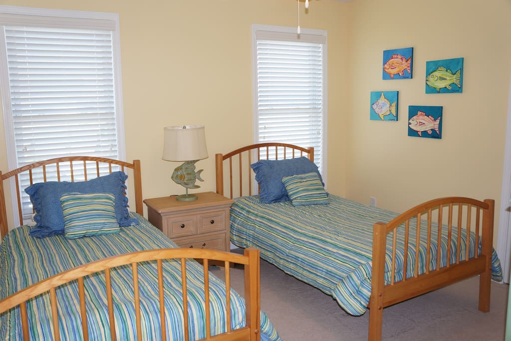 3rd floor Twin bedroom; shares hallway bath with one other room