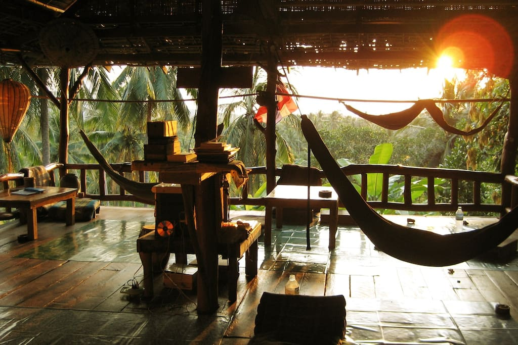 Our restaurant, where hammock and food goes together.