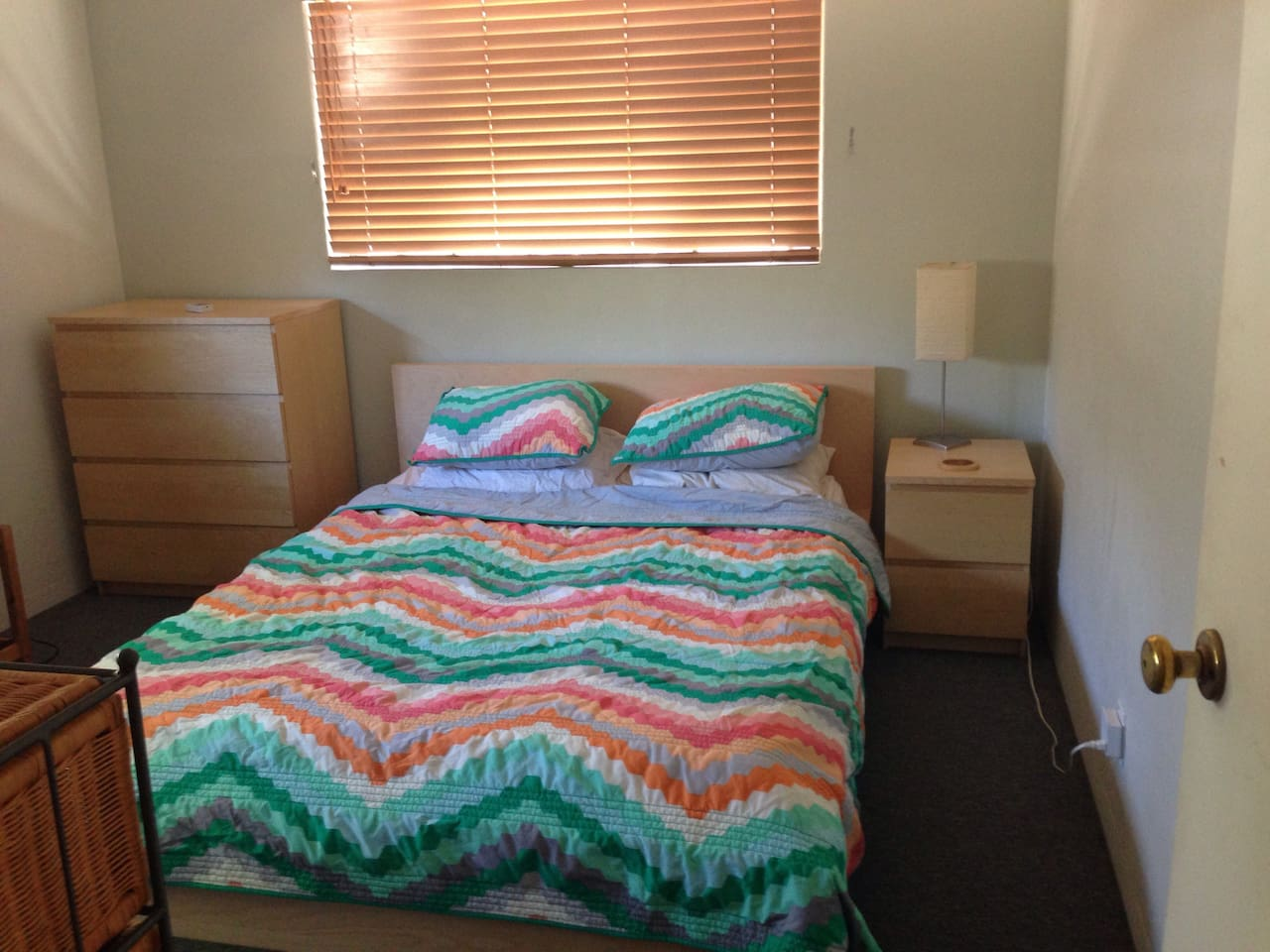 Very comfortable bed. Super clean and ready for you!