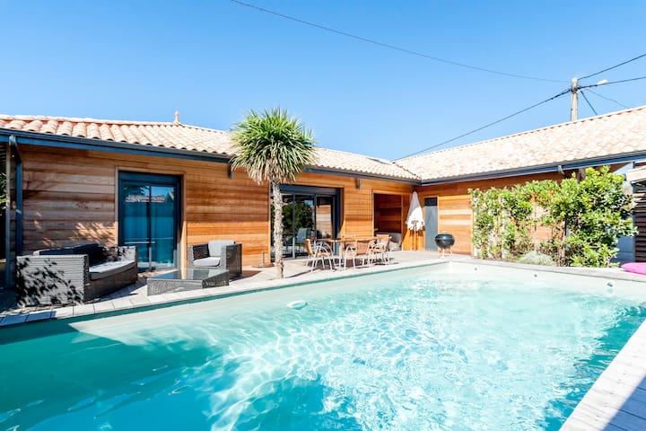 Villa MARYSOL  80m2  6pers. Piscine chauffée - Carcans Plage - Casa de camp