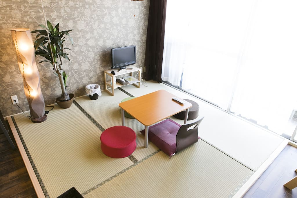 Television and Japanese Tatami space:)