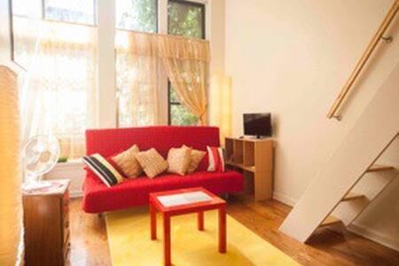 Sunny cozy studio apt with loft bed - New York - Apartment