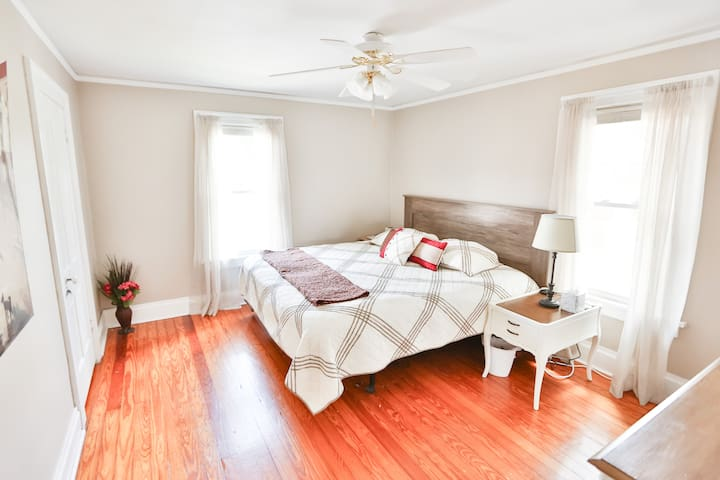 Master bedroom with King sized Sleep Number bed.  (Dual controls)