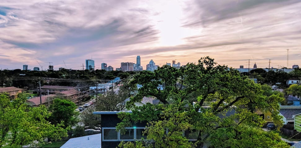 Austin Skyline Views from the Private Rooftop Deck