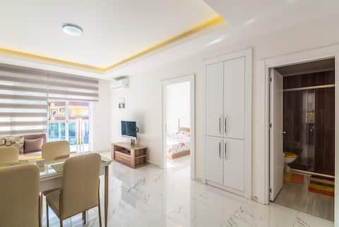 1+1 premium apartment (sw. pools, SPA, BBQ zone)