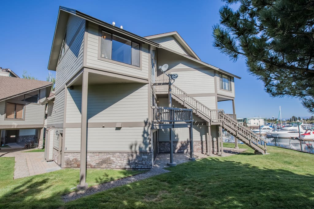 This Tahoe Keys condo has 3 levels with lots of gorgeous waterfront views and 3 master bedrooms