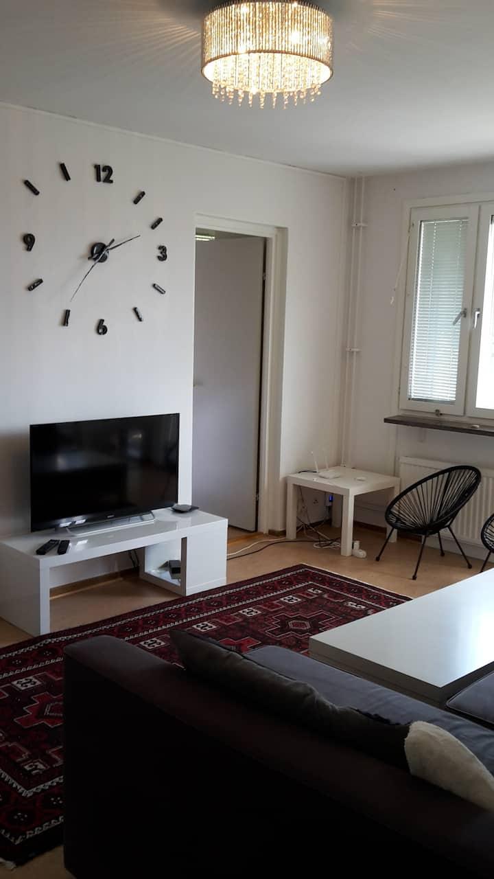 Komplett lägenhet för 1-4 personer.