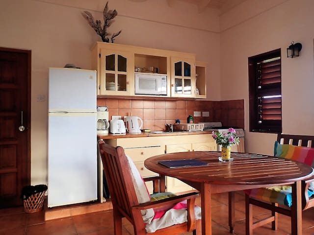Kitchen set up for self-catering