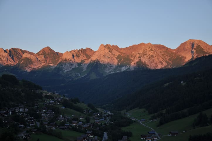 View of the Aravis from anywhere in the appartment