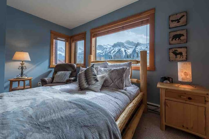 Look at that view from the huge master bedroom!