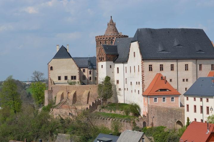 Kleine Wohnung mit Blick auf Burg Mildenstein