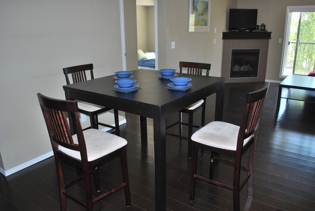 Dining space.