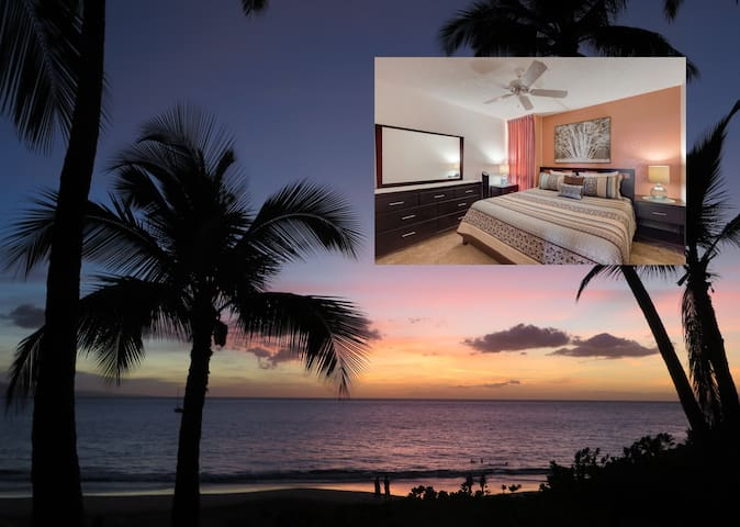 Ocean views! New KING bed! Steps to best beaches! - Kihei - Condominium