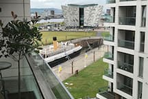 View of Titanic Belfast and SS Nomadic from Balcony